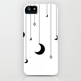 Kennah's Dream in Black and White iPhone Case