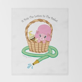 It puts the lotion in the basket. // Silence of the Lambs Throw Blanket