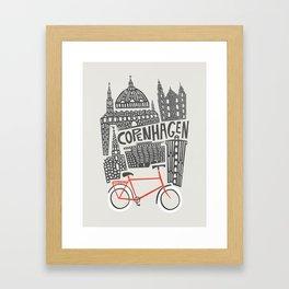 Copenhagen Cityscape Framed Art Print