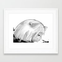 kitsune Framed Art Prints featuring Kitsune by Alterant