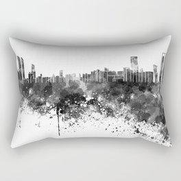Abu Dhabi skyline in black watercolor Rectangular Pillow