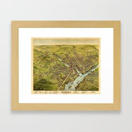 Bird's eye view of the City of Bangor, Penobscot County, Maine (1875) Framed Art Print