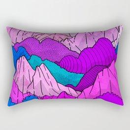 The night time hills Rectangular Pillow