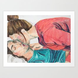 Slow Kiss Art Print