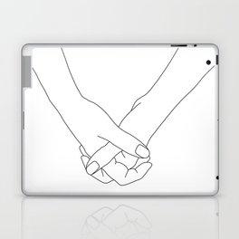 Hands line drawing illustration - Lala Laptop & iPad Skin