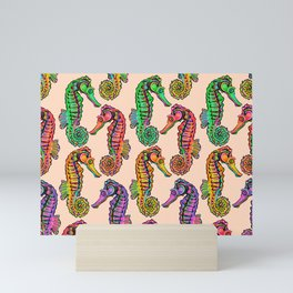 Seahorse Row Mini Art Print