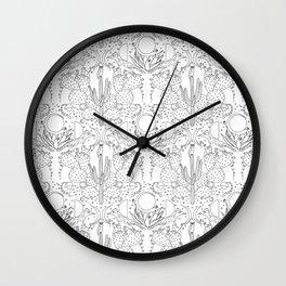 Desert Wallpaper B&W Wall Clock