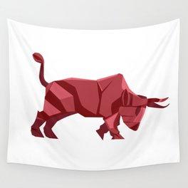 Origami Bull Wall Tapestry