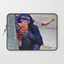Baby Monkey has a Snack Laptop Sleeve