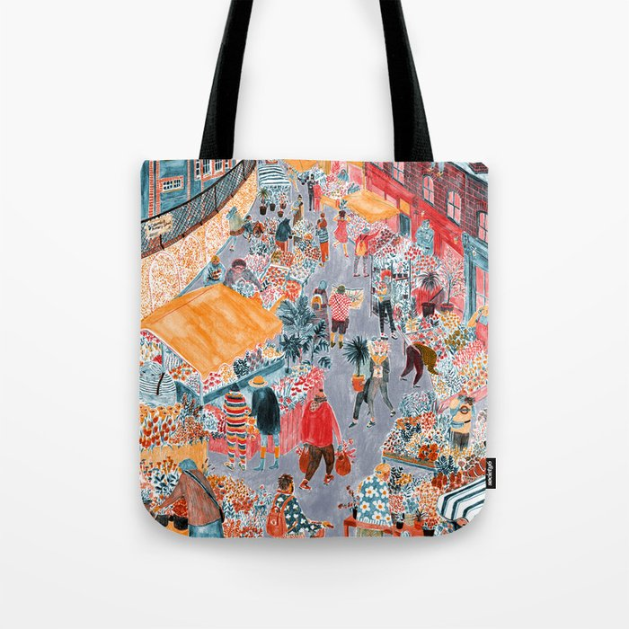 Columbia Road Flower Market Tote Bag By