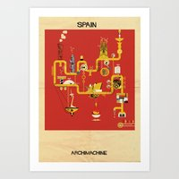 spain Art Prints featuring Spain by federico babina