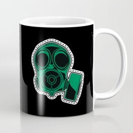 Cut out and keep gas mask — green Coffee Mug