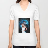 true blood V-neck T-shirts featuring True Blood - Sookie & Eric by Jaime Gervais