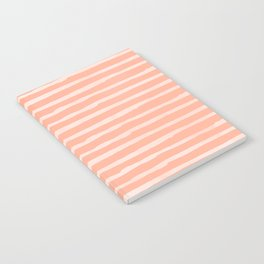 Sweet Life Thin Stripes Peach Coral Pink Notebook