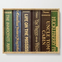 Old Books - Square Twain Serving Tray