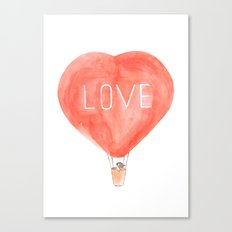 LOVE in the air Canvas Print