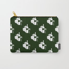 Wine Pattern Carry-All Pouch