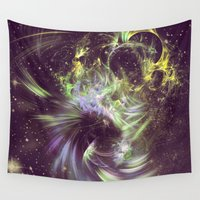 physics Wall Tapestries featuring Twisted Time - Black Hole Effects by Nirvana.K