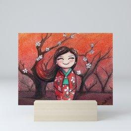 Kokeshi Selene Mini Art Print