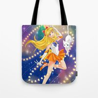 sailor venus Tote Bags featuring Sailor Venus  by Moonsia