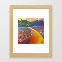 The Road to Chateau Chantal Framed Art Print