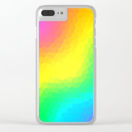 Magical Rainbow Gradient Dragon Scales! Clear iPhone Case