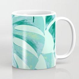 Tropical Monstera Leaves Dream #4 #tropical #decor #art #society6 Coffee Mug