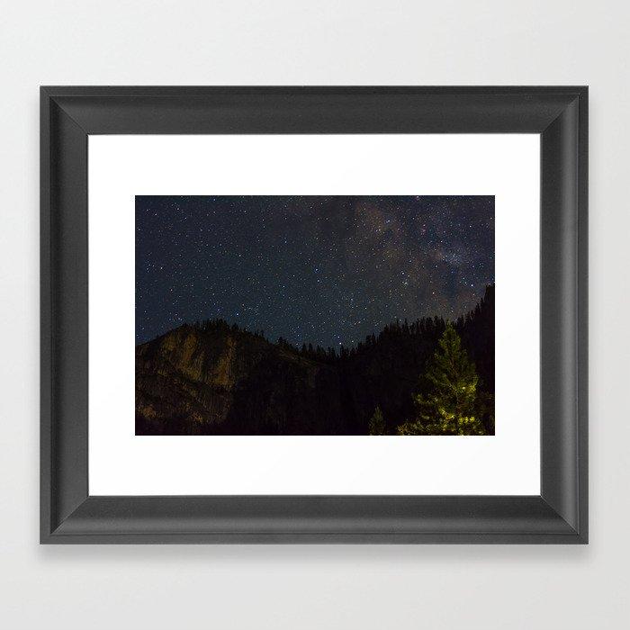 The Milky Way Above Yosemite Valley Framed Art Print