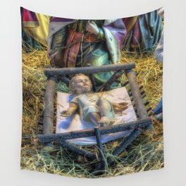 Away in a Manger Wall Tapestry