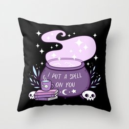 Witch Cauldron Throw Pillow