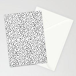 Black Dots on White by Minikuosi Stationery Cards