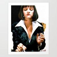 Uma Thurman @ Pulp Fiction Art Print