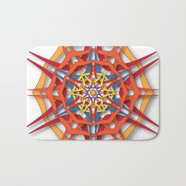 abstract mandala harsh sunlight Bath Mat