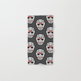 Knitted Jason hockey mask pattern Hand & Bath Towel