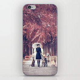 AUTUMN DOGS iPhone Skin