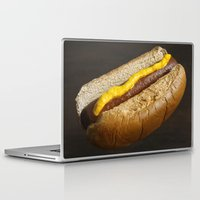 hot dog Laptop & iPad Skins featuring Hot Dog by Lauren Fusco