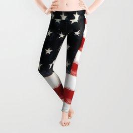 USA Flag ~ American Flag ~ Ginkelmier Inspired Leggings