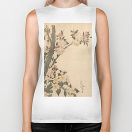 Hokusai, flowers of a cherry-tree- manga, japan,hokusai,japanese,北斎,ミュージシャン Biker Tank