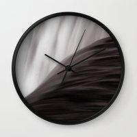 waterfall Wall Clocks featuring Waterfall by Alexandra Str