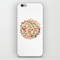 pomeranian iPhone & iPod Skins featuring Pomeranian in Autumn by Jack Haughey