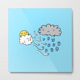Rain, Rain, Go Away! - Weather Battles - English Nursery Rhyme Metal Print