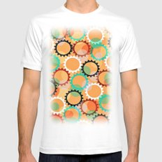 Smells like flowers and sun MEDIUM Mens Fitted Tee White
