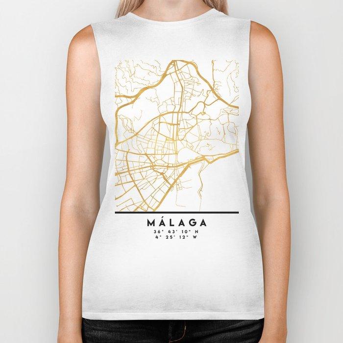 MALAGA SPAIN CITY STREET MAP ART Biker Tank