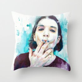 25th frame of my mind (Brian Molko) Throw Pillow