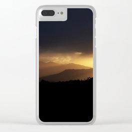 Sunbeams Streaking Across The Valley Clear iPhone Case