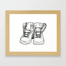 Walking Boots Framed Art Print