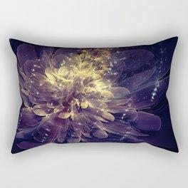 Flower Of Liberty - Golden Blue Flower Rectangular Pillow