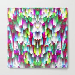 Colorful digital art splashing G396 Metal Print