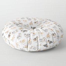 The Rough Collie Floor Pillow