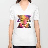 marilyn V-neck T-shirts featuring MARILYN  by mark ashkenazi